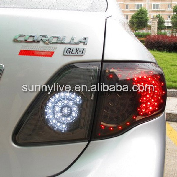 For Toyota Corolla Altis Led Tail Light 2008 2010 Year All Smoked Black Wh