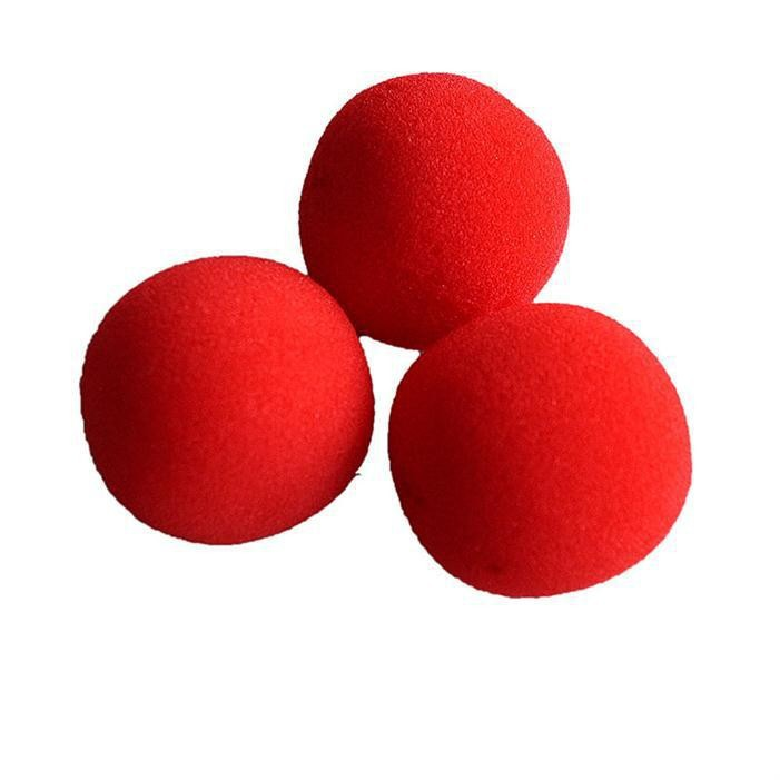 10pcs/lot New Fashion Close-Up Magic Sponge Ball Brand Street Classical Comedy Trick Soft Red Sponge Ball