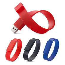 Fashion Silicone Bracelet Men Unisex Wrist Band 32gb 8gb 4gb USB Flash Drive Pen Drive 64gb 16gb USB 2.0 Stick U Disk Pendrive