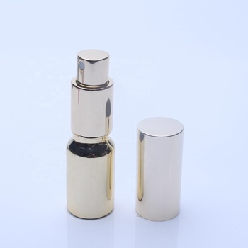 China Factory OEM / ODM Electroplating 10ml Perfume Glass Bottle With Anodized Gold Sprayer