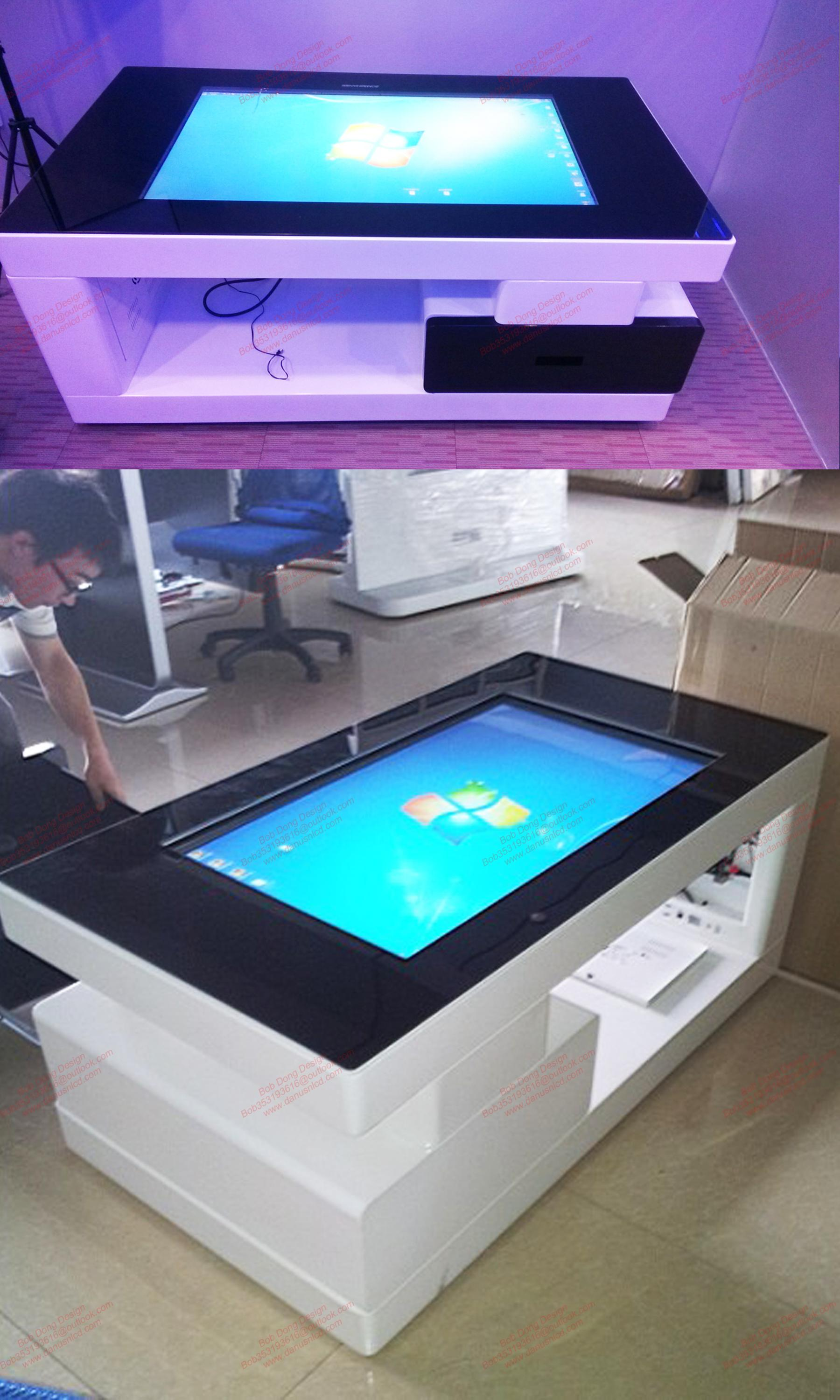 Smart Home Furniture Capacitive Touch Screen Kiosk Coffee Table