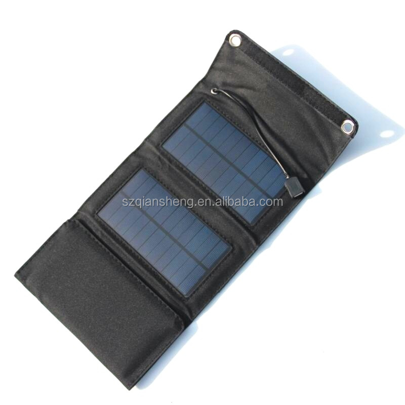 Portable 7W 5.5V Solar Panel Foldable Travel Power Bank  Solar Charger