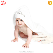 100% organic thick bamboo cotton duck bear plain white custom logo hooded baby bath pink wash cloth terry towels