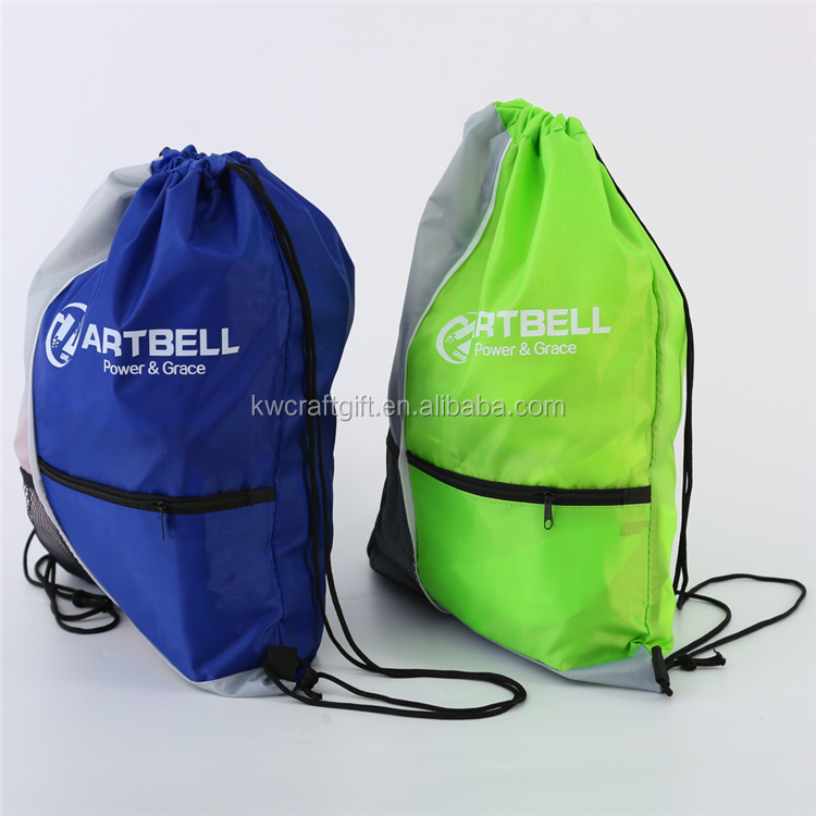 210D Polyster fabrics Drawstring Bag For Water Bottles Backpack Outdoor Shopping Bags