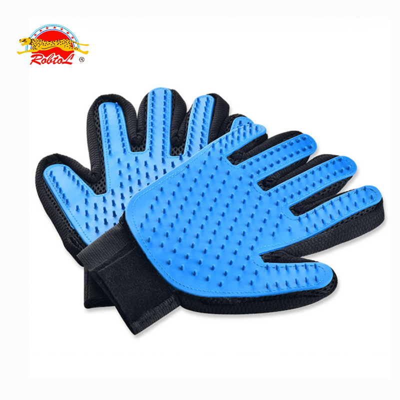 RoblionPet wholesale high quality pet dog / cat grooming baths gloves or brush with cheap price