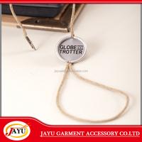 China quality printing metal hang tag loop/cords