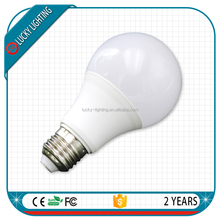 LED bulb 100lm/w 270degree Epistar plastic cover A60 9W led bulb raw material E27 bulb in hot sale
