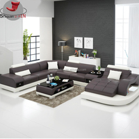 Leather sofa Living Room modern furniture set sofa