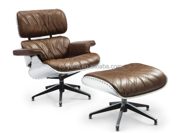 Aviator Chair,lounge Chairs,leisure Chair With Ottoman,vintage Leather Chair  With Ottoman YH 182