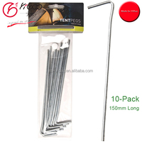 hot sale Steel tent pegs in a pack of 10 Tent Peg Stakes