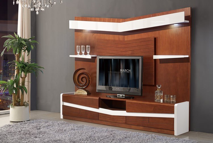 2017 Living Room Wooden Furniture Chinese Tv Stand Design