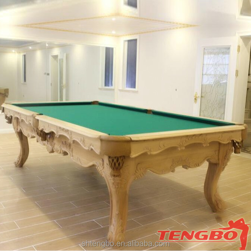 Low Price 4 legs carved style USA billiards snooker pool tables