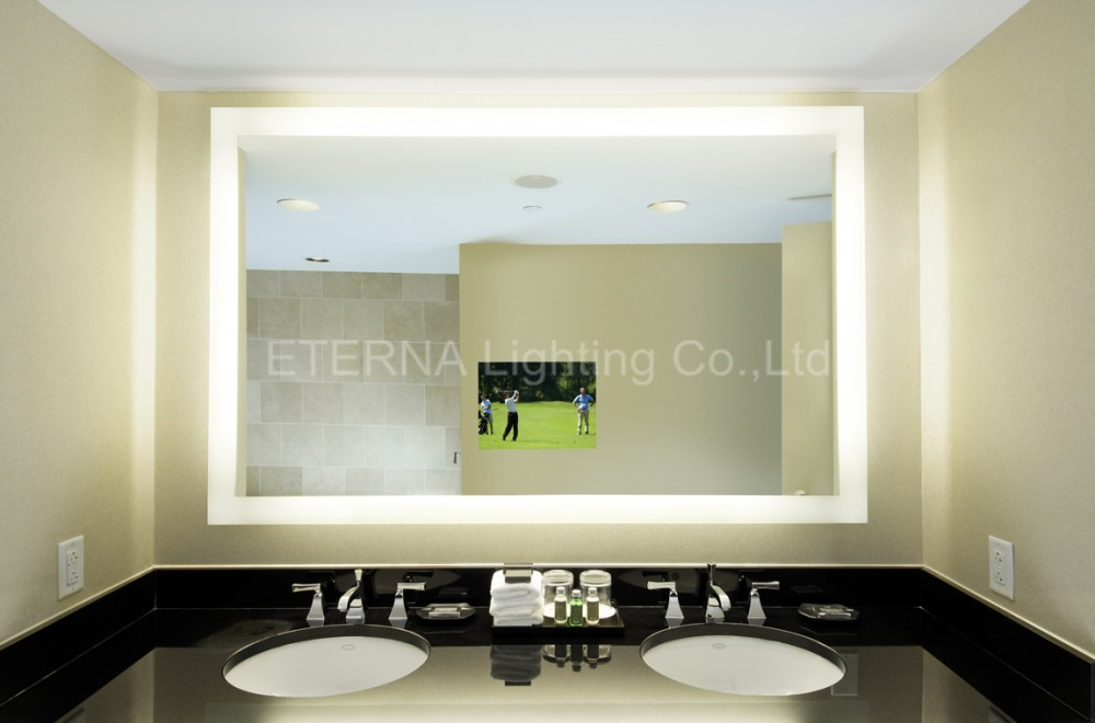 Bathroom Mirrors With Lights Built In factory direct sale barber shop mirrors with led lights wall