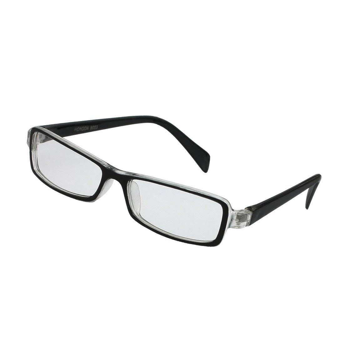 0e384368b5f Get Quotations · LUQUAN Kids Plastic Full Rim Rectangle Lens Plain  Eyeglasses Plano Glasses Black Clear