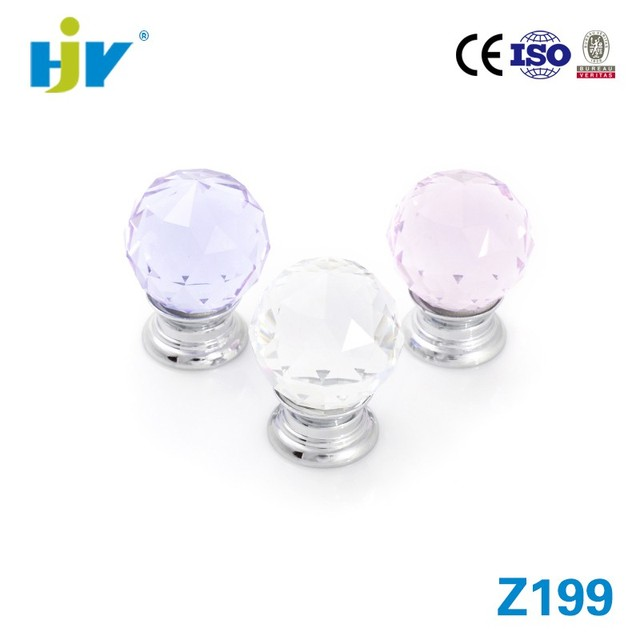 Guangdong Manufacturer Small Crystal Kitchen Cabinet Door Knobs