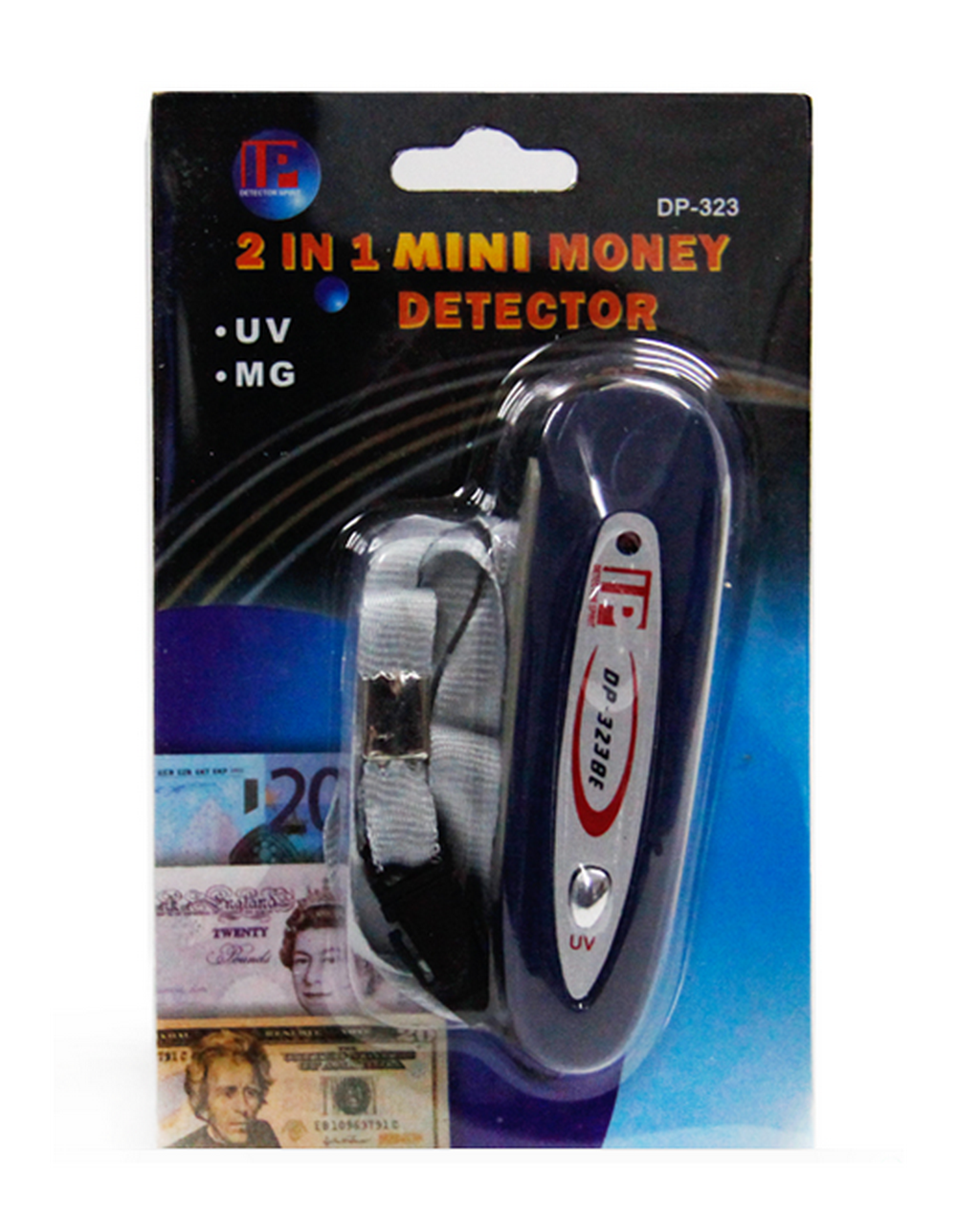 2 in 1 Counterfeit Money UV Detector Tester Dollar Bill Fake Euro Currency Checker