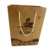High quality shopping/gift cheap small flat handle kraft paper bag with logo print