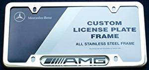 Genuine Mercedes Benz AMG Chrome License Plate Frame