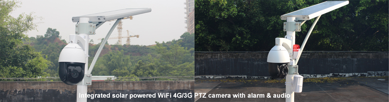 GOING tech WiFi 4G 3G solar security camera with alarm and audio