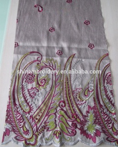 fancy bamboo fabric dress material with 3mm sequin material embroidery fabric design, dress and clothing fabric