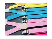 Candy Colors Kids Suspenders Adjustable Y-back Braces Clip-on Elastic Suspender Children Belt