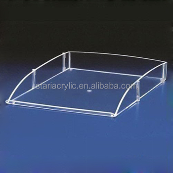 stackable clear acrylic file holder file trays plexiglass single letter tray 4 34