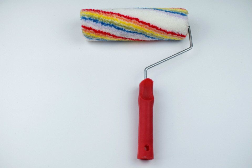 Grand acrylique rouleau de peinture brosse mur peinture for Rouleau de peinture decorative