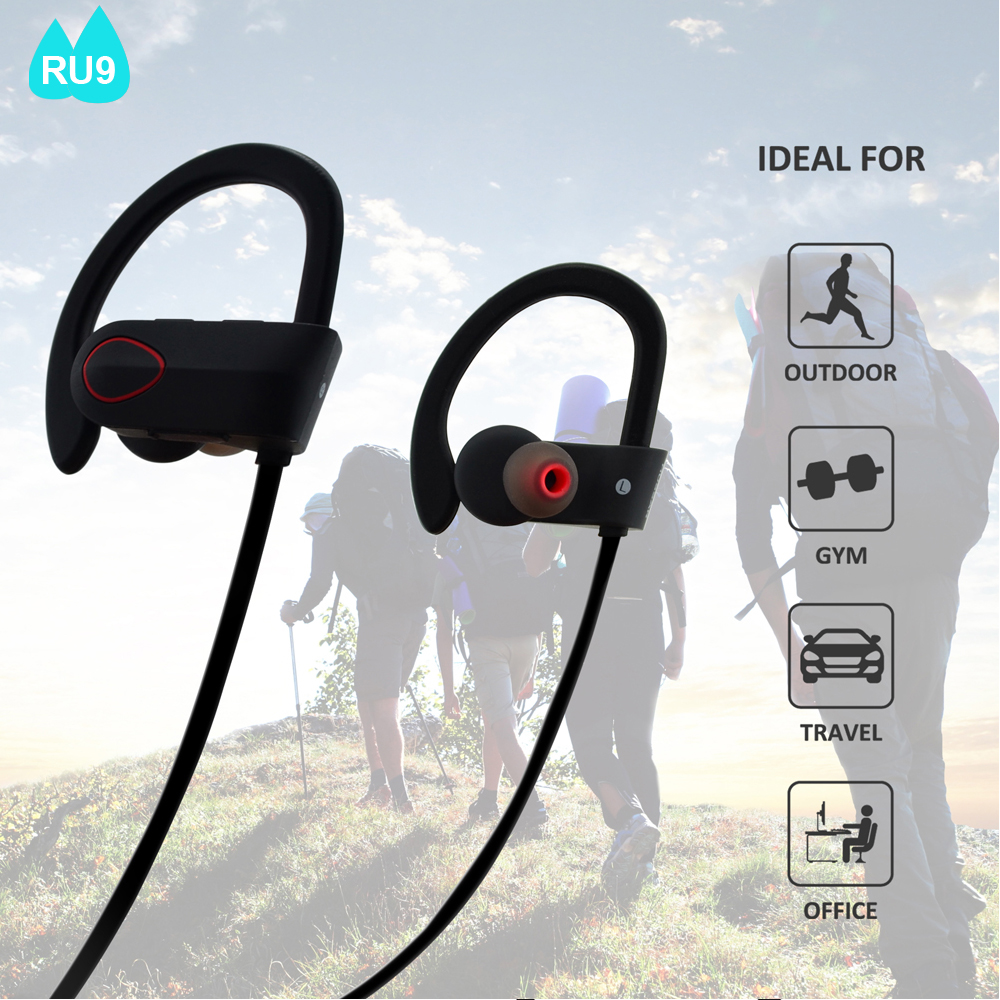 Multi Color Premium Sound Sport Bluetooth 4.1 Waterproof Headsets <strong>Communications</strong>--RU9