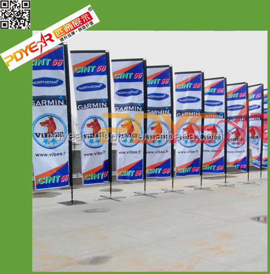 2017 China Supplier New Advertising Style Tour Guide Flag Pole ...