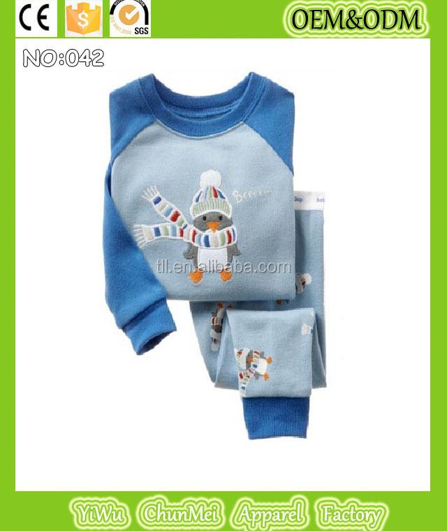 2015 Children Christmas Pajamas Kids Santa Penguin Pyjamas Girls ...