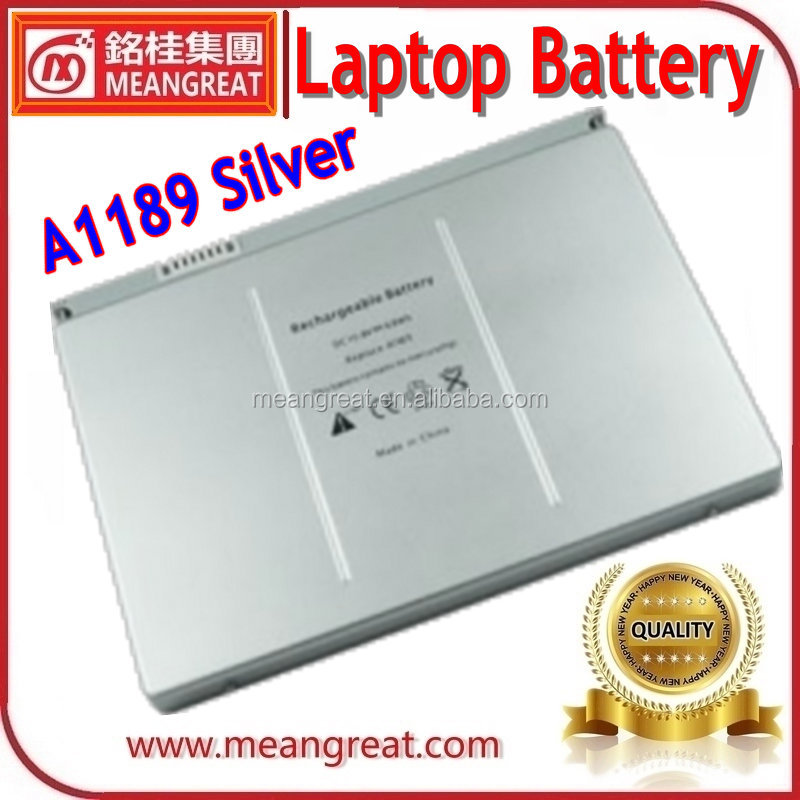 Brand New Silver Color Rechargeable Laptop Battery for Macbook A1189