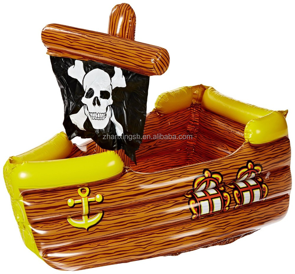 Inflatable Pirate Ship Air Wine Ice Cooler