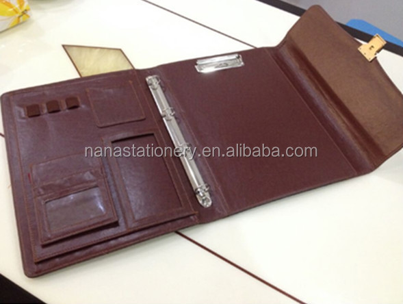 PU leather conference file folder, organizer NS-520