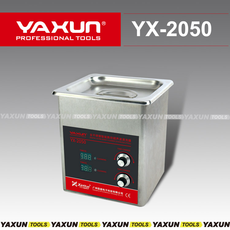 1.3L stainless steel ultrasonic cleaner with heating function Yaxun YX 2050