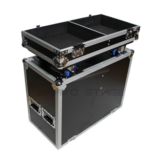 BRAVO Fits 2x RCF ART 745-A Two-Way Speaker Flight Case with 4 inch Wheels