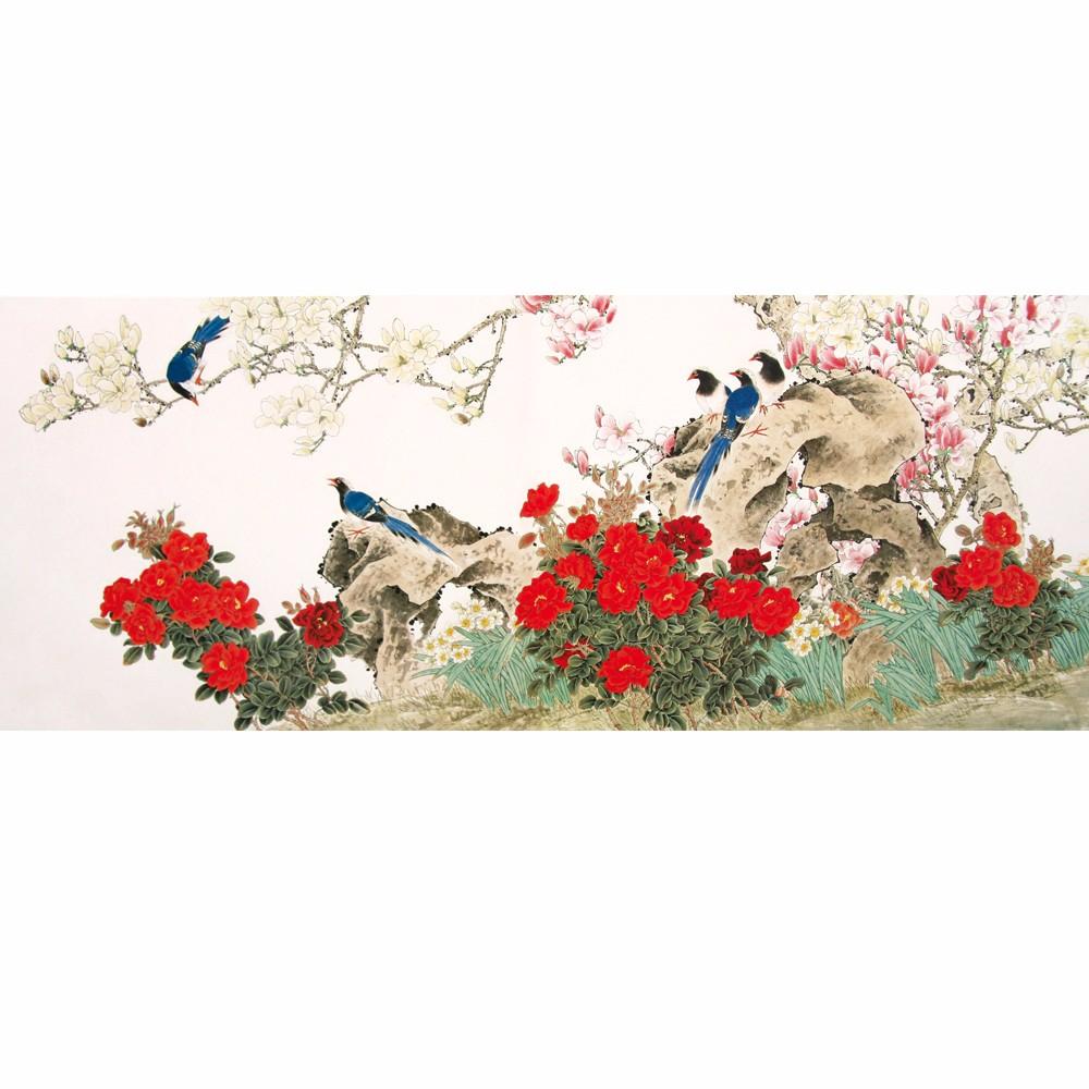 Chinese Bird And Flower Painting Murals Wallpaper Custom Wallpaper ...