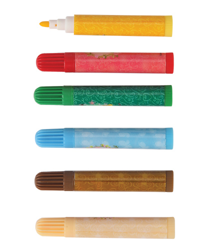 10colors triangular grip watercolor marker,washable pen