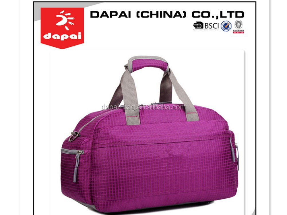 2015 light weight ribstop PU fashional duffle bags for boys or girls