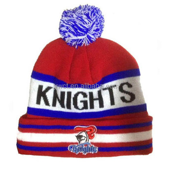 Free Knitting Pattern Slouchy Football Club Beanie Sports Team Fans Knit Hat 0e843258aa9