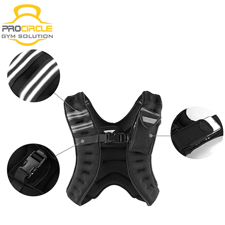 Compression Function Adjustable Weight Vest Training