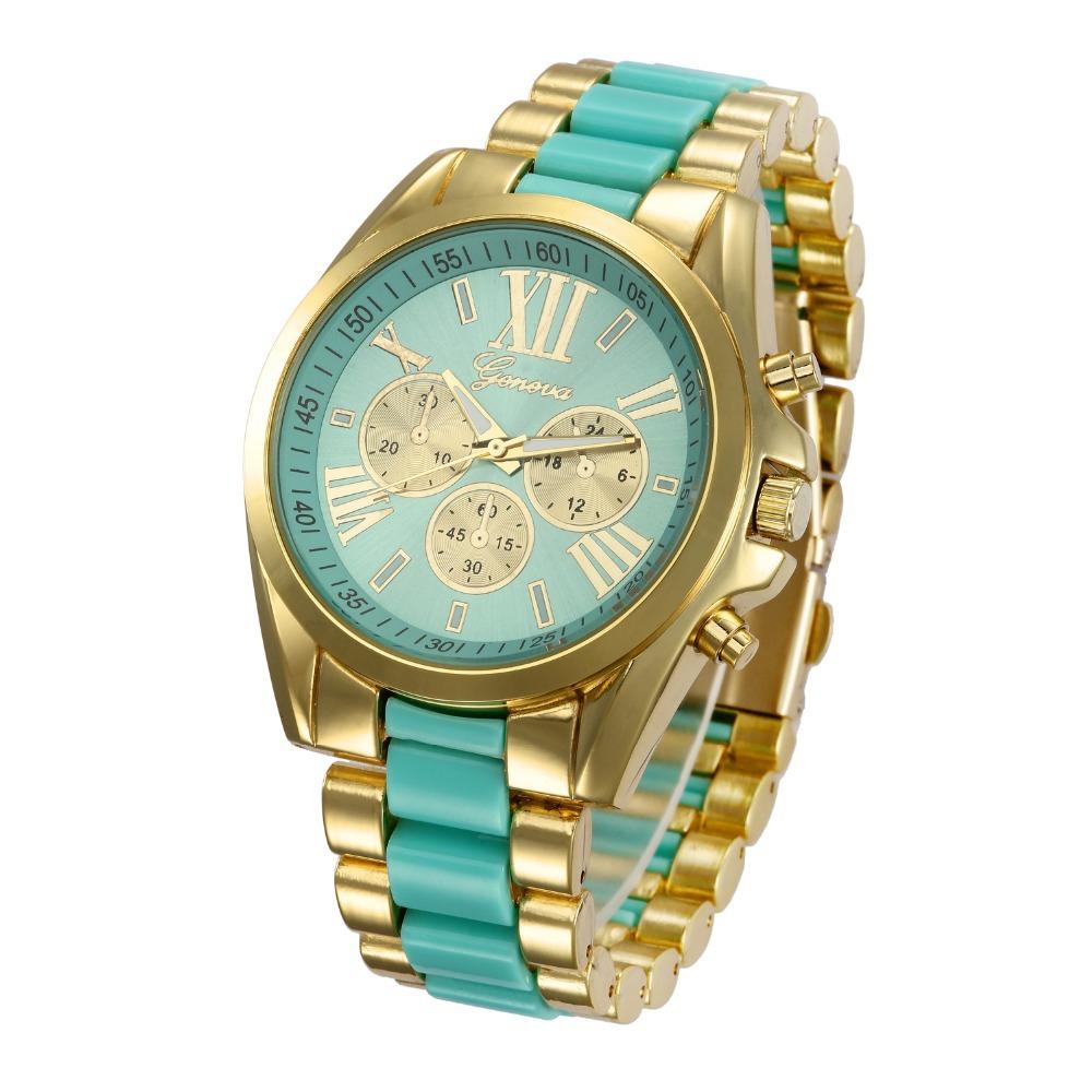 2894676e29a Get Quotations · New Women watch Gold Ring quartz Geneva Watches Dress  Wristwatch Montre femme Relogio feminino Reloj Relojes