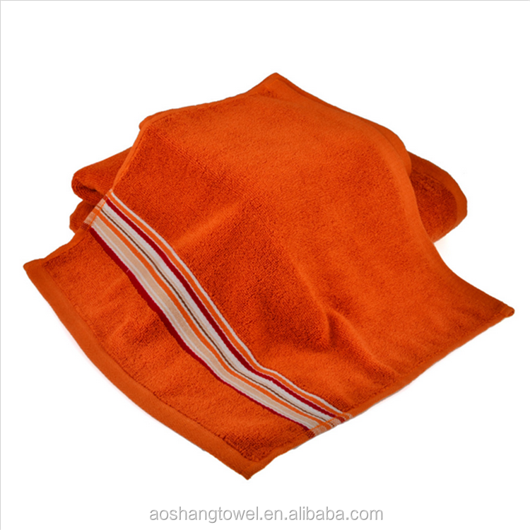 alibaba soft dyed yarn workout luxury hand towel red