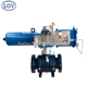 LOV 3PC Body Trunnion Mounted Pneumatic Actuator Control Ball Valve With Positioner