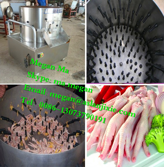 50 kg per time chicken feet peeling machine/chicken feet processing machine/home chicken feet cleaning machine
