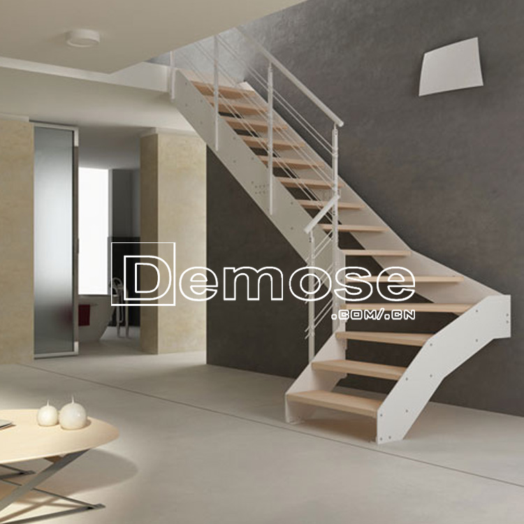 Steel Wood Stairs Material Design Indoor Prefab