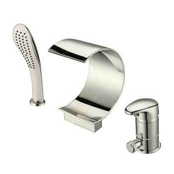 European single handle bathroom bathtub shower mixer faucet with handshower