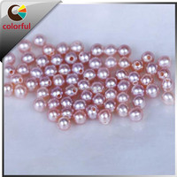 round colorful loose pearls cultured