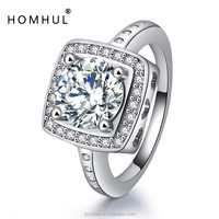 Fashion jewelry white gold ring marquise moissanite diamond ring