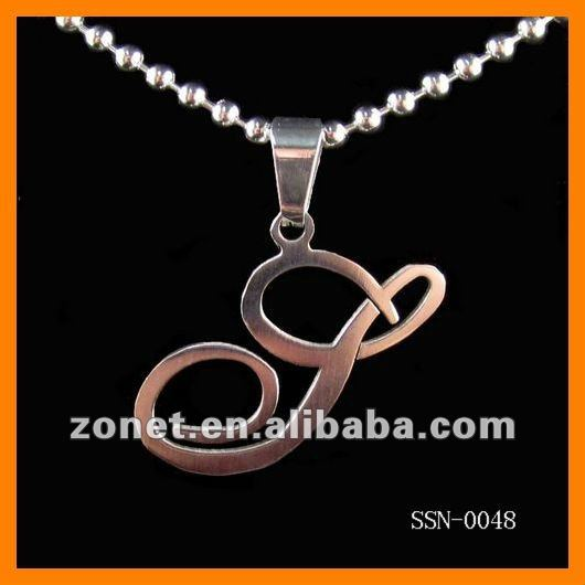 stainless steel stylish alphabet initial letter s men pendants