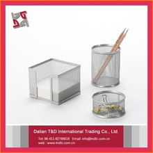 metal mesh office mini office stationery set